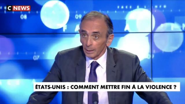 Eric Zemmour s'exprime sur l'affaire George Floyd sur le plateau de CNews