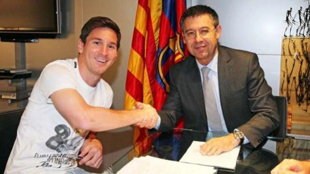 Messi et Bartomeu