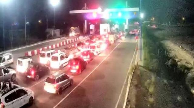Au point de péage autoroutier vers El Jadida