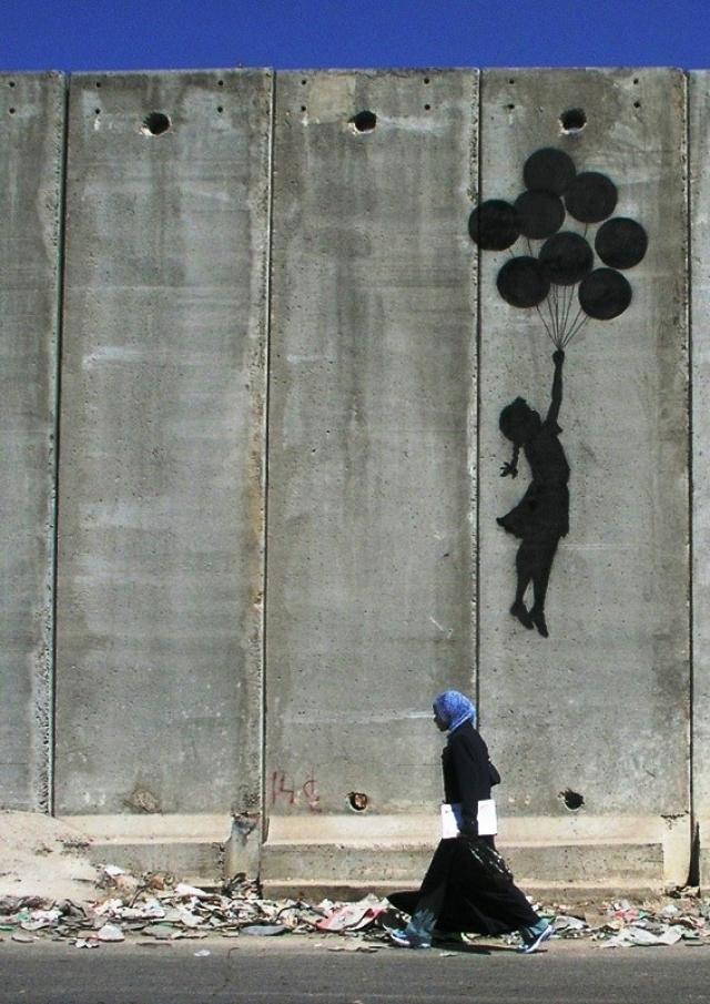 """""""La fillette aux ballons"""" de Banksy"""