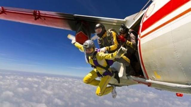 Saut en parachute à Béni Mellal.