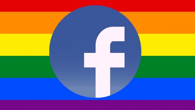 Facebook drapeau arc-en-ciel
