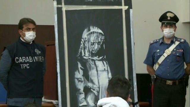 Le Banksy volé retrouvé