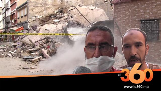 Cover_Vidéo: شهود يحكون تفاصيل سقوط بناية سباتة فوق رؤوس سكانها