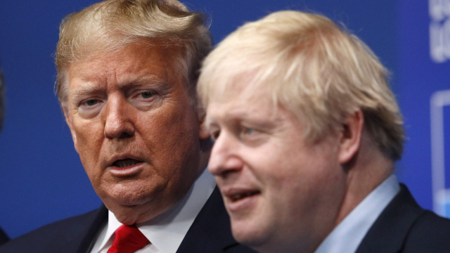 Trump et Boris Johnson