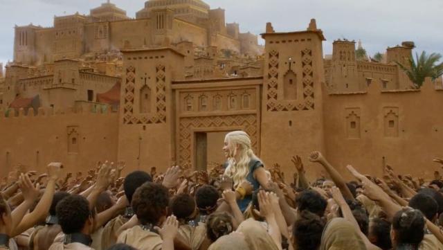 """Le tournage de """"Game of Thrones"""" à Aït Ben Haddou"""