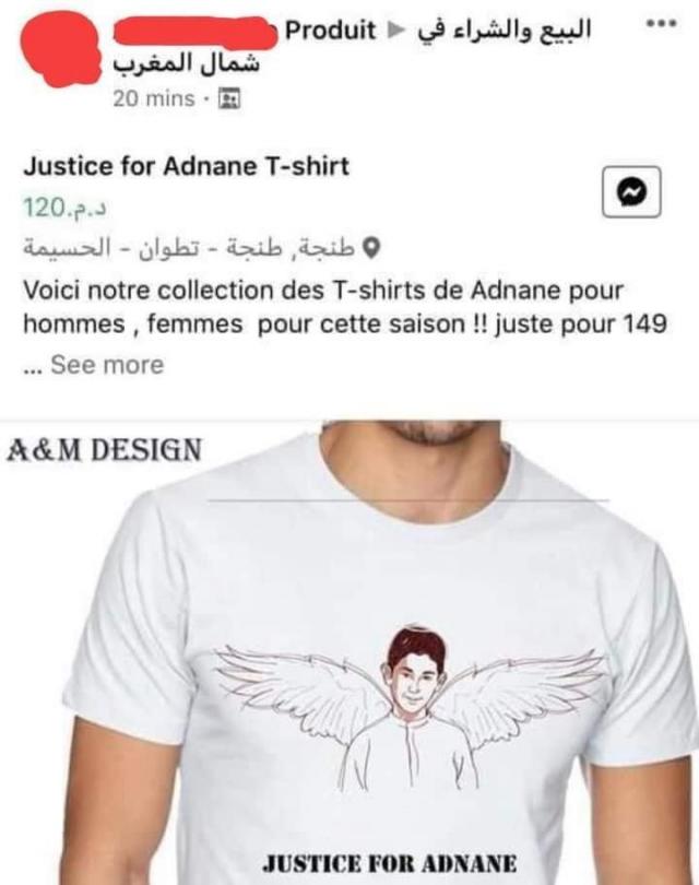 Le t-shirt Justice For Adnane