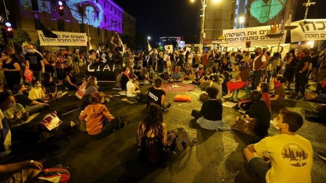 Jérusalem - Manifestations anti-Netanyahu