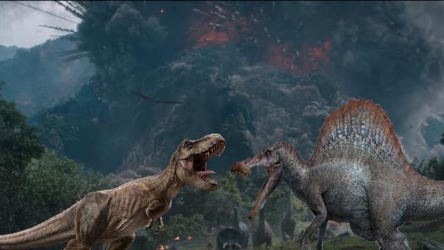 Dans Jurassic Park, le combat du T-Rex et du Spinosaurus