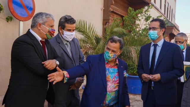 L'inauguration de l'exposition «Foum Zguid-du Sel au Fil» au musée des Confluences-Dar El Bacha à Marrakech