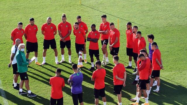 Les Lions de l'Atlas au complexe Mohammed VI de football.