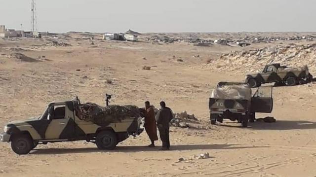 Polisario près d'El Guerguerat
