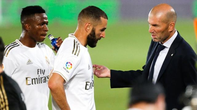 Zidane, Benzema et Vinicius