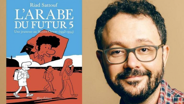 "Sortie de ""l'Arabe du futur 5"" de Riad Sattouf."