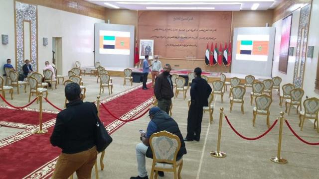 conférence de presse ouverture du consulat des Emirats à Laayoune