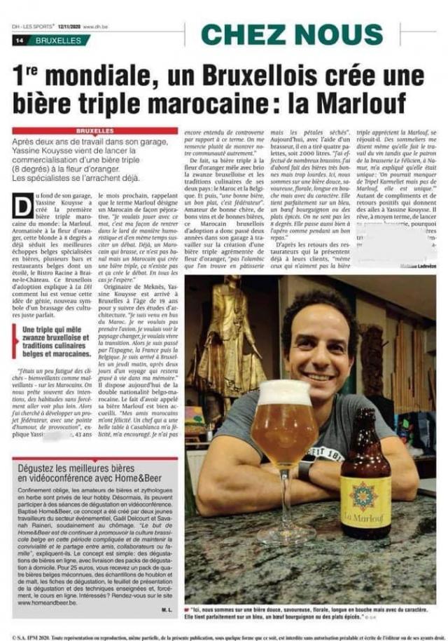 """L'interview de Yassine Kouysse dans le journal """"la dernière heure"""""""