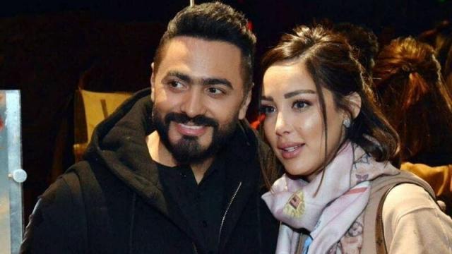 Tamer Hosny et son épouse Bessma Boussel