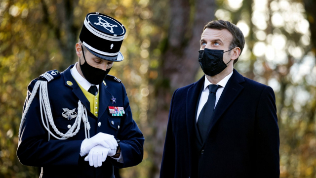 Emmanuel Macron à la Boissière
