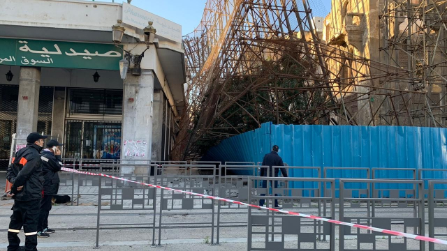 Effondrement de la façade de l'hôtel Lincoln