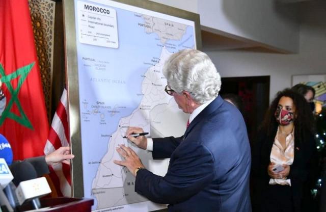 L'ambassadeur américain au Maroc présente la carte complète du Maroc officiellement adoptée par le gouvernement US