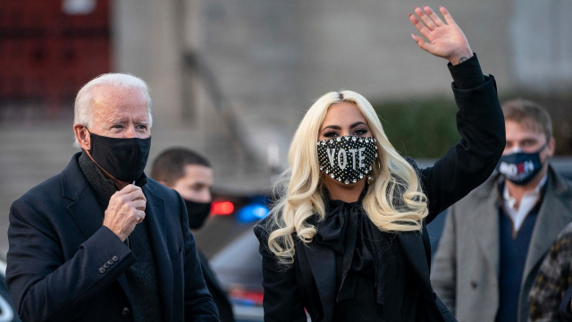 Joe Bidden Lady Gaga