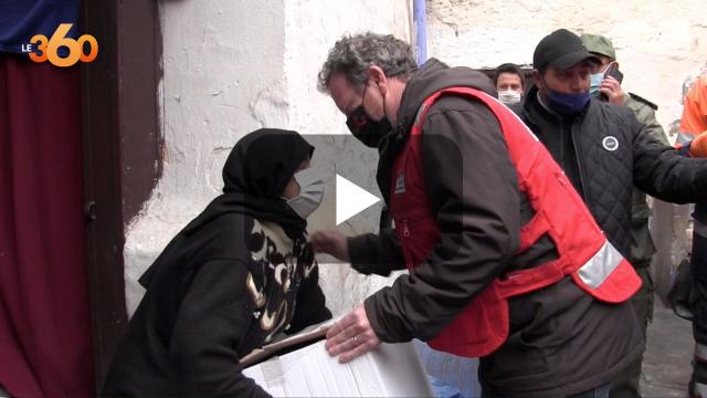 Cover: الهلال الأحمر المغربي بمراكش ينخرط في جهود التخفيف من آثار موجة البرد