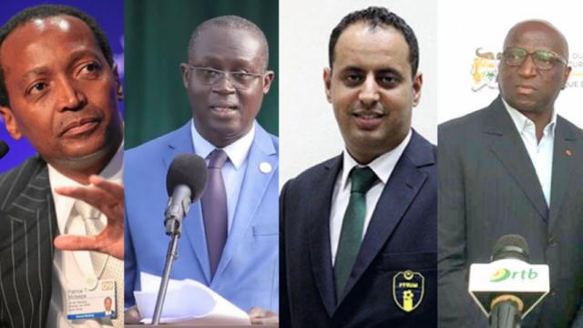 Les candidats à la présidence de la CAF