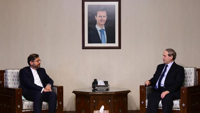 Syrie - Iran - Faisal Mekdad (chef de la diplomatie syrienne) - Saeed Khatibzadeh (porte-parole diplomatie syrienne)