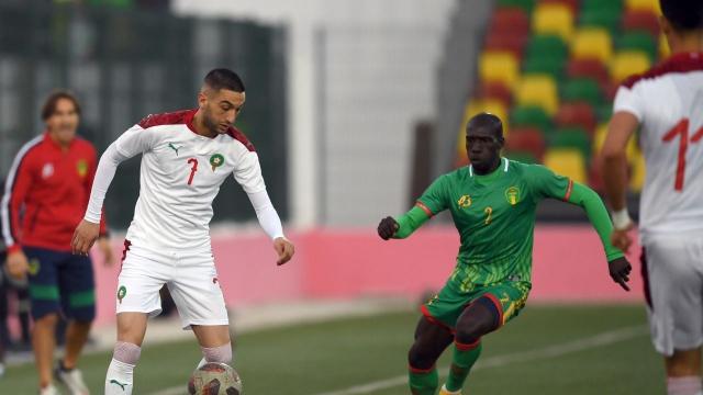 Hakim Ziyech face à la Mauritanie.