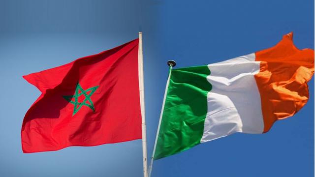 Drapeaux Maroc-Irlande