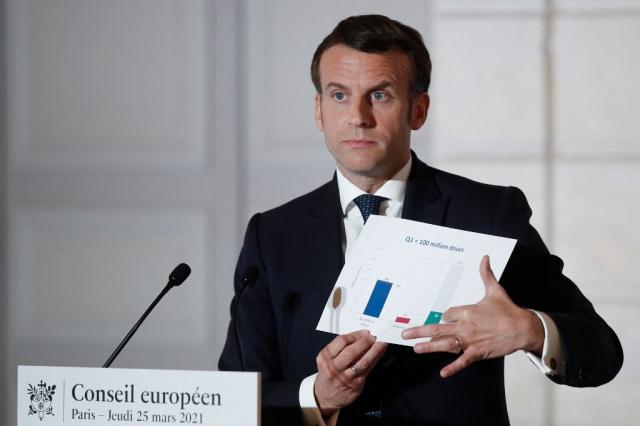 Emmanuel Macron - Conseil européen - Paris - France - Conférence de presse