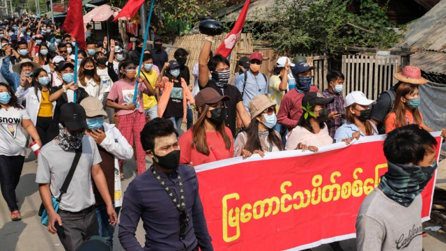 Birmanie - Manifestation - Mandalay