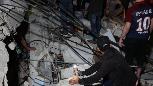 Gaza - Bombardement israélien - Immeuble de médias