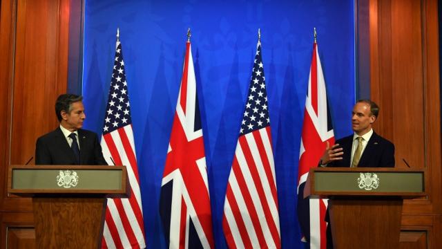 Dominic Raab - Antony Blinken - Royaume-Uni - Etats-Unis - G7 - Londres