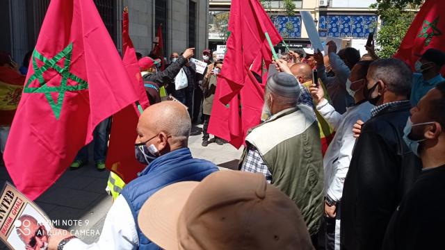 """""""Manifestation de Marocains devant l'Audience nationale, à Madrid, pour demander l'arrestation de Brahim Ghali (243704)"""""""