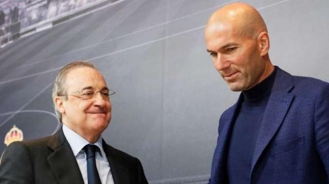 Zinédine Zidane et Florentino Perez.
