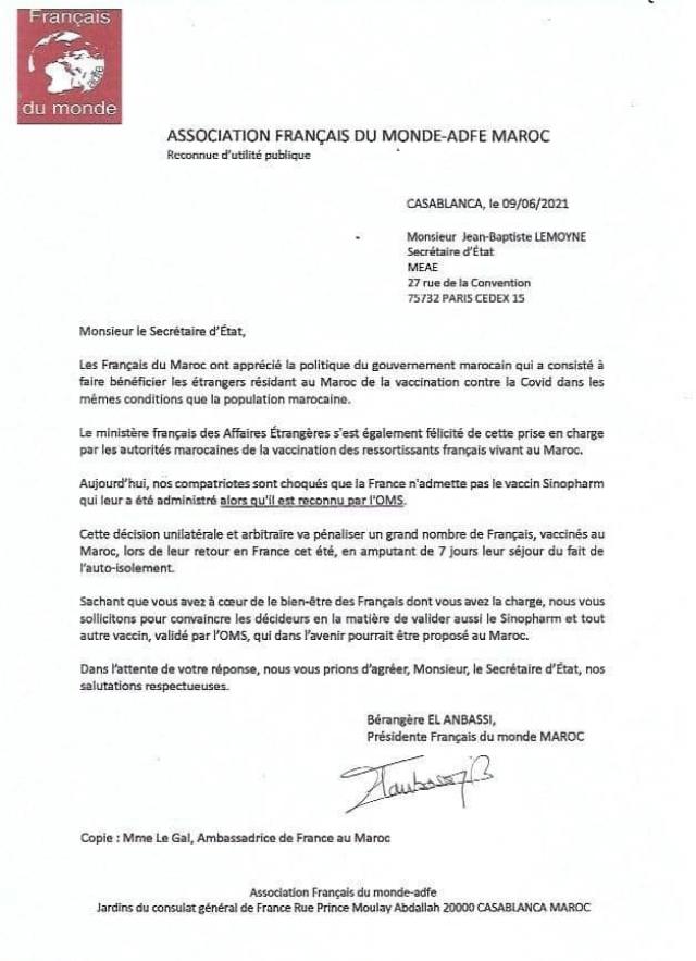 Lettre des Français du monde Maroc