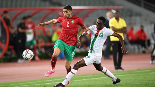 Achraf Hakimi contre le Burkina Faso, le 12 juin 2021.