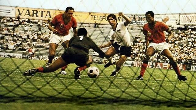 Maroc-Allemagne de l'ouest, disputé le 3 juin 1970.