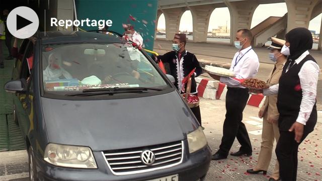 Cover_Vidéo: احتفالات وورود في استقبال أول باخرة بميناء بني أنصار