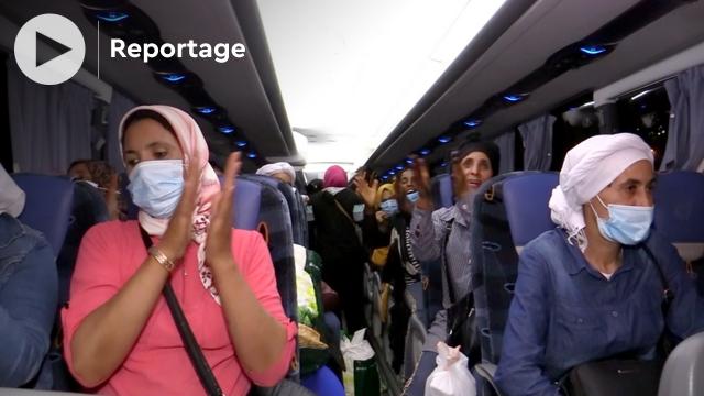 Cover_Vidéo: أجواء فرح عاملات الفراولة بإسبانيا لحظة وصولهن الى طنجة