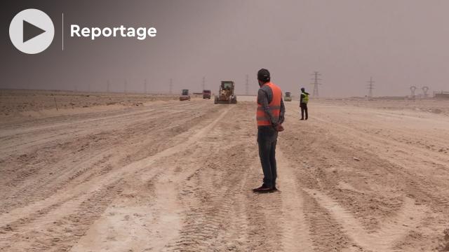 cover: أشغال بناء طريق الولوج إلي ميناء الداخلة الأطلسي الجديد