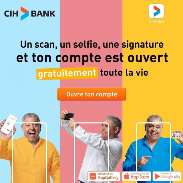 CIH Banque gratuite