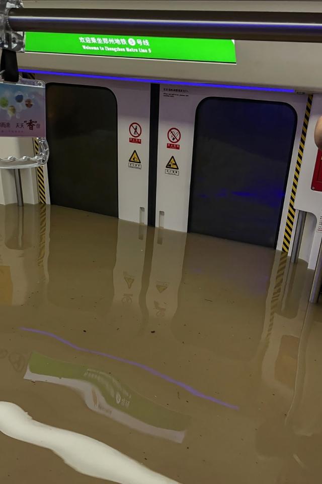 Chine - Inondations - Métro Zhengzhou - Crue - Intempéries