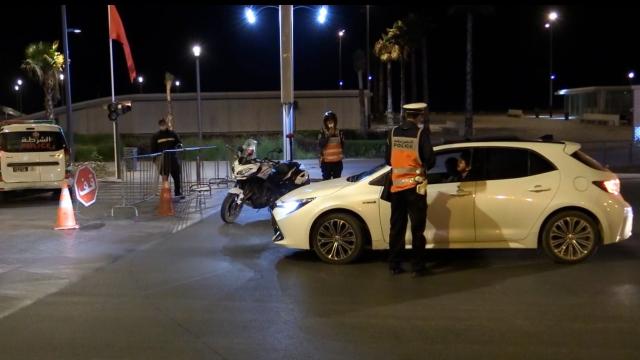 Couvre-feu à 21h à Casablanca- Barrage de police