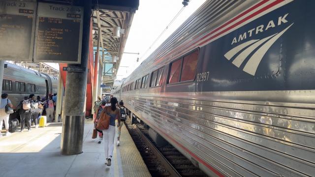 Train Amtrak - Passagers - Gare Union - Washington, DC - Etats-Unis