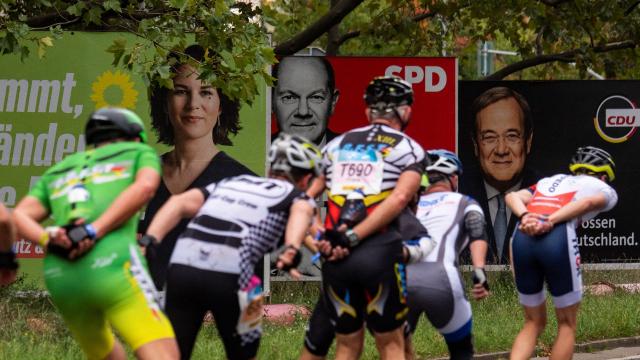 Allemagne - Elections - Candidats - Marathon de rollers - Berlin - Merkel