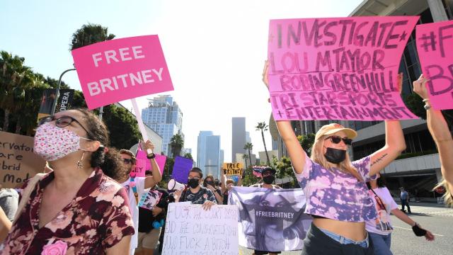 Britney Spears - Free Britney - Fans - Los Angeles - Californie - Etats-Unis