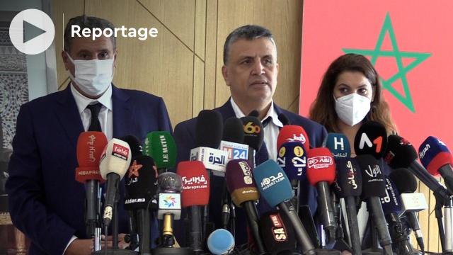 Cover - Abdellatif Ouahbi - secrétaire général PAM - Aziz Akhannouch - Président du RNI - Fatima Zahra Mansouri - Présidente Conseil national PAM