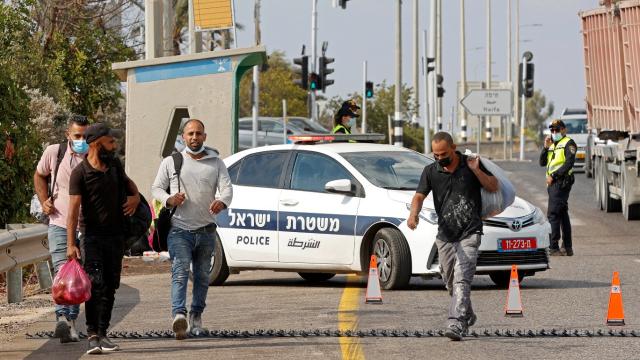 Palestine - Israël - Jénine - Cisjordanie - Checkpoint - Travailleurs palestiniens